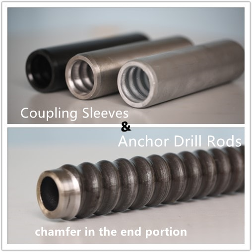 Coupling for Anchor Bars, end chamfering process